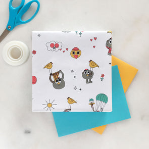 The MoMeMans™ Pete + Pete Gift Wrap by Monica Escobar Allen