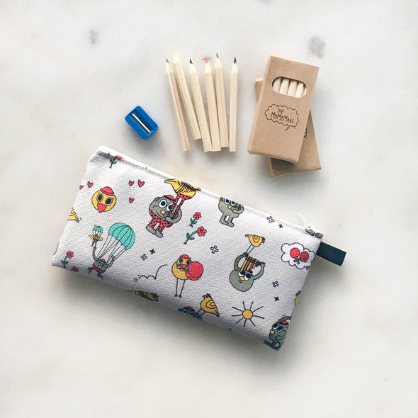 The MoMeMans® Pete + Pete School Friendly Pencil Case by Monica Escobar Allen