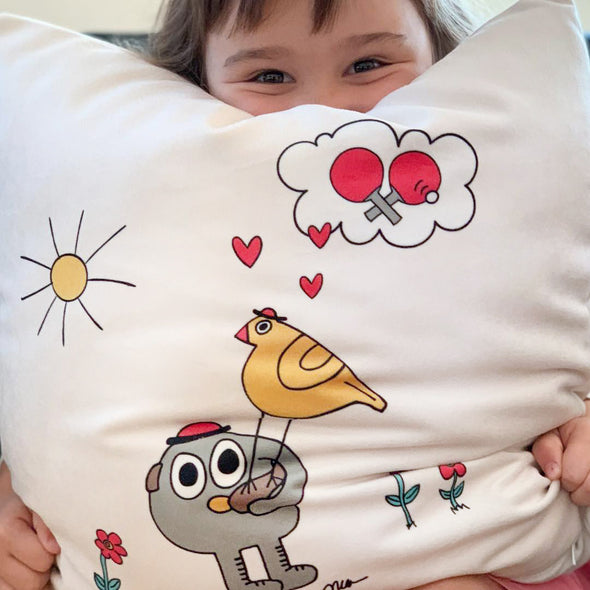 The MoMeMans® Pete + Pete Super Plush Velveteen Pillow Case by Monica Escobar Allen