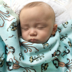 The MoMeMans® Quinn + Quinlan Baby Sherpa Blanket by Monica Escobar Allen