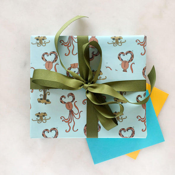 The MoMeMans™ Quinn + Quinlan Gift Wrap by Monica Escobar Allen