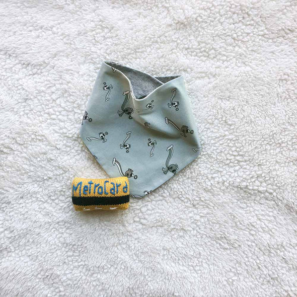 Rebecca Toddler Bandana. The MoMeMans™ by Monica Escobar Allen.