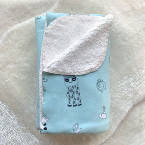 The MoMeMans® Fleece Sherpa SHH™ Kid's Blanket by Monica Escobar Allen.