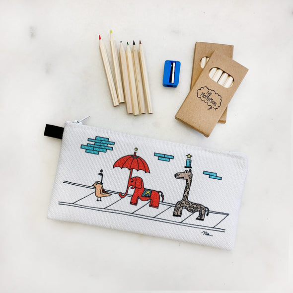 The Sidewalkers Cutie Pencil Case from The MoMeMans® by Monica Escobar Allen