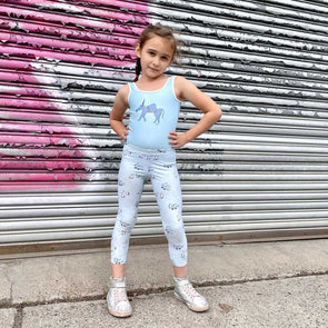 Skater Girl Little Kids Flex-2 Super Leggings Kid Yoga Pants Sizes 2T-6x from The MoMeMans® by Monica Escobar Allen