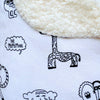 The MoMeMans® Signature Toddler-Chic Sherpa Blanket by Monica Escobar Allen