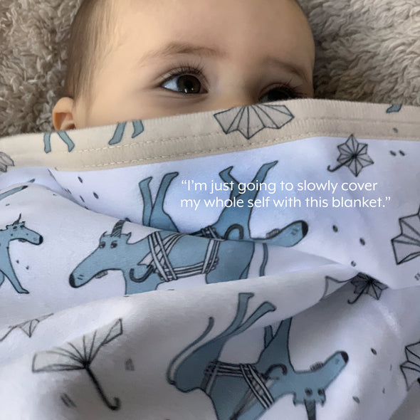 The MoMeMans® Ulysses Ulinsky Sherpa Baby Blanket by Monica Escobar Allen