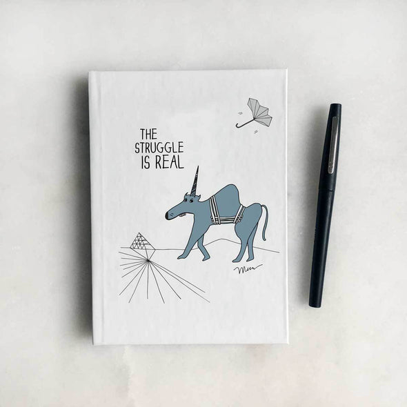 The Struggle is Real Journal. The MoMeMans® by Monica Escobar Allen.