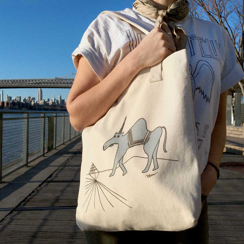 The MoMeMans® Ulysses Ulinsky Cotton Tote Bag by Monica Escobar Allen