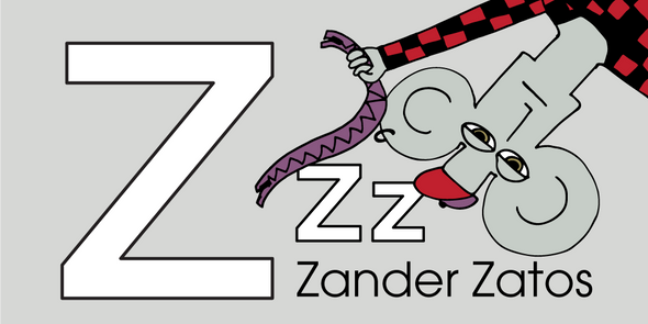 The MoMeMans™ ZYX Project. Letter Z: Zander Zatos by Monica Escobar Allen.