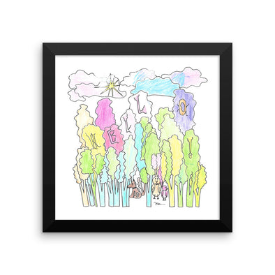 "The Friendly Forest ""Color Me"" Print"
