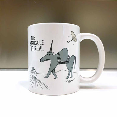 The Struggle is Real Mug. The MoMeMans® by Monica Escobar Allen.