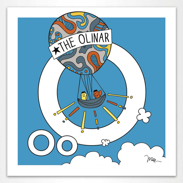 The MoMeMans® Nursery and Kid's Room Letter O Print by Monica Escobar Allen. For the oddballs that make us all happy.