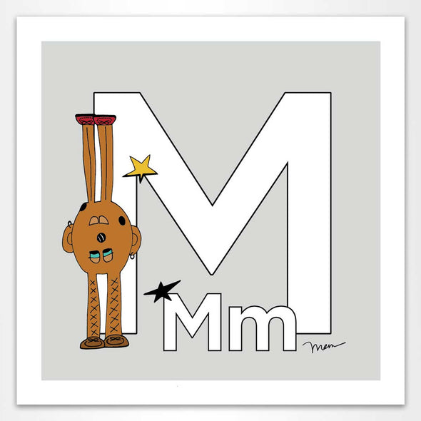 The Letter M. The MoMeMans® by Monica Escobar Allen.