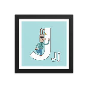 The MoMeMans® Nursery and Kid's Room Letter J Print by Monica Escobar Allen. For all the jokesters with names that start with J.