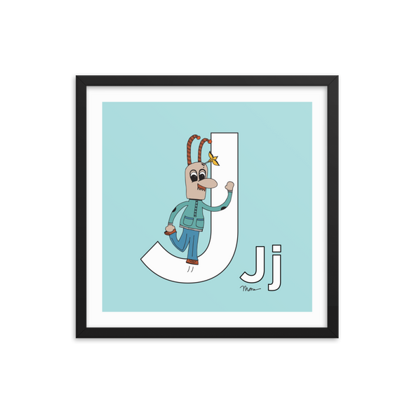 The Letter J. The MoMeMans® by Monica Escobar AlleThe MoMeMans® Nursery and Kid's Room Letter J Print by Monica Escobar Allenn. For all the jokesters with names that start with J.