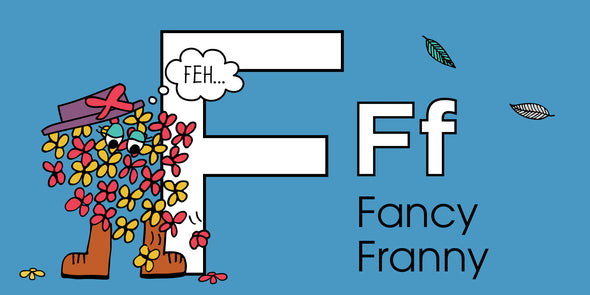 The MoMeMans™ ZYX Project. Letter F: Fancy Franny by Monica Escobar Allen