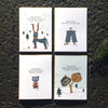 Holiday Card Gift Pack. The MoMeMans™ by Monica Escobar Allen.