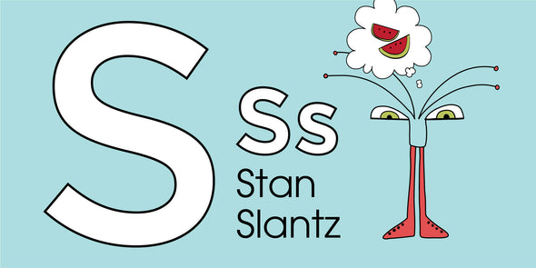 The MoMeMans® ZYX Project: Alliterative Tales from Z to A. Letter S: Stan Slantz by Monica Escobar Allen. Learning the ABCs for Babies and Tots.