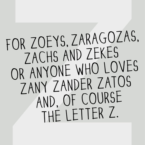The Letter Z from The MoMeMans™ by Monica Escobar Allen