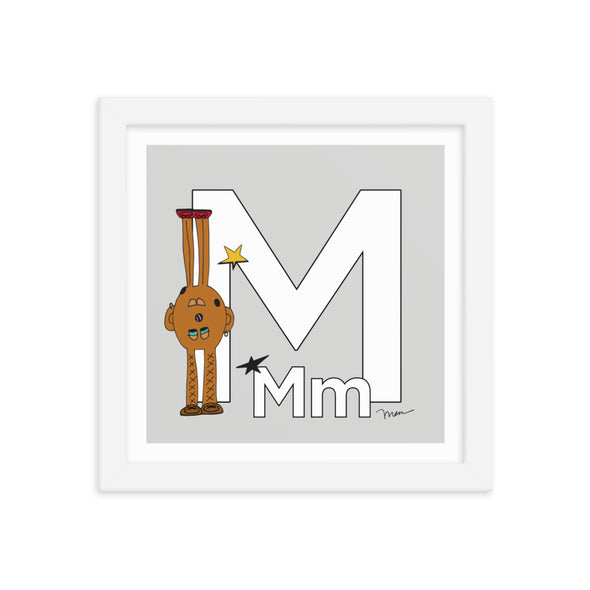 Letter M Print. The MoMeMans® Nursery and Kid's Room Alphabet Wall Art by Monica Escobar Allen