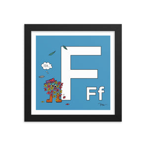 The Letter F Print. The MoMeMans™ by Monica Escobar Allen.