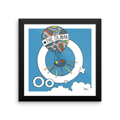 Letter O Print. The MoMeMans® Nursery and Kid's Room Alphabet Wall Art by Monica Escobar Allen. For the oddballs that make us all happy.