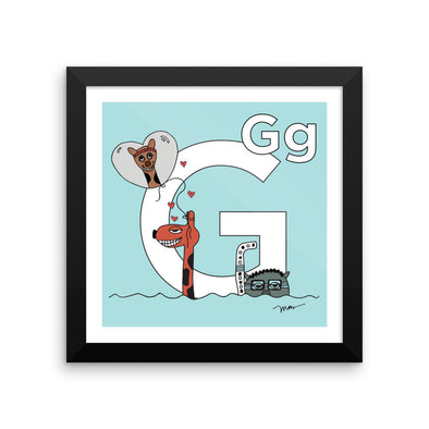 The Letter G Print. The MoMeMans™ by Monica Escobar Allen.