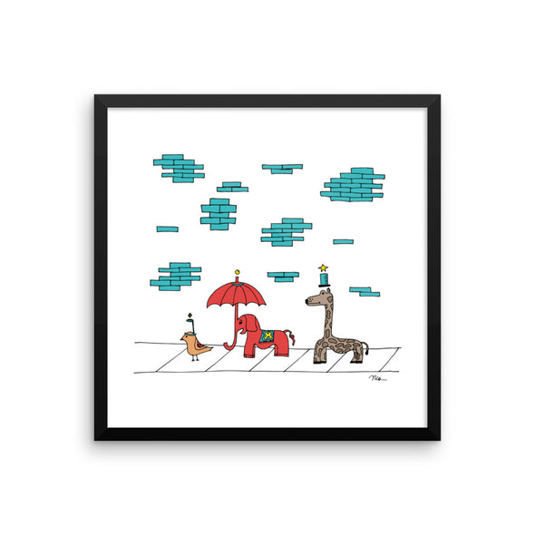 The MoMeThe MoMeMans® The Sidewalkers Print Framed by Monica Escobar Allen
