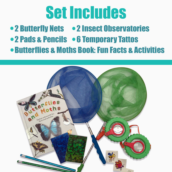 Butterfly Catching Kit (Set of 2 - Blue & Green)