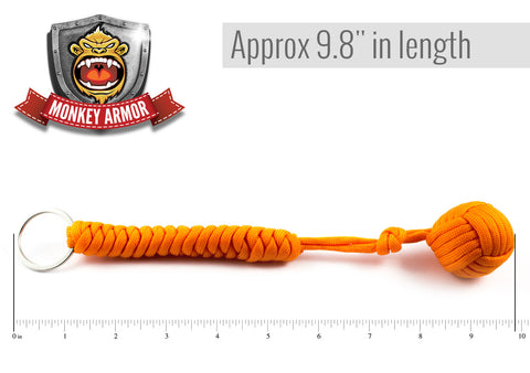 Orange Monkey Fist Keychain