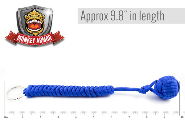 Royal Blue Monkey Fist Paracord Keychain