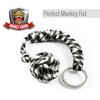 Black and White Monkey Fist Keychain