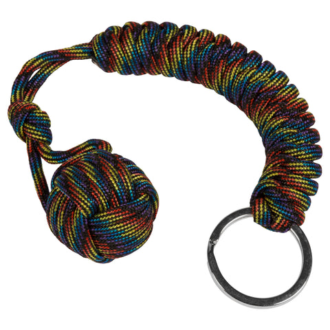 Beyond the Rainbow  Monkey Fist Paracord Keychain