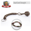 Camo Monkey Fist Paracord Keychain