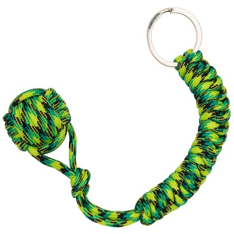 Green Lizard  Monkey Fist Paracord Keychain