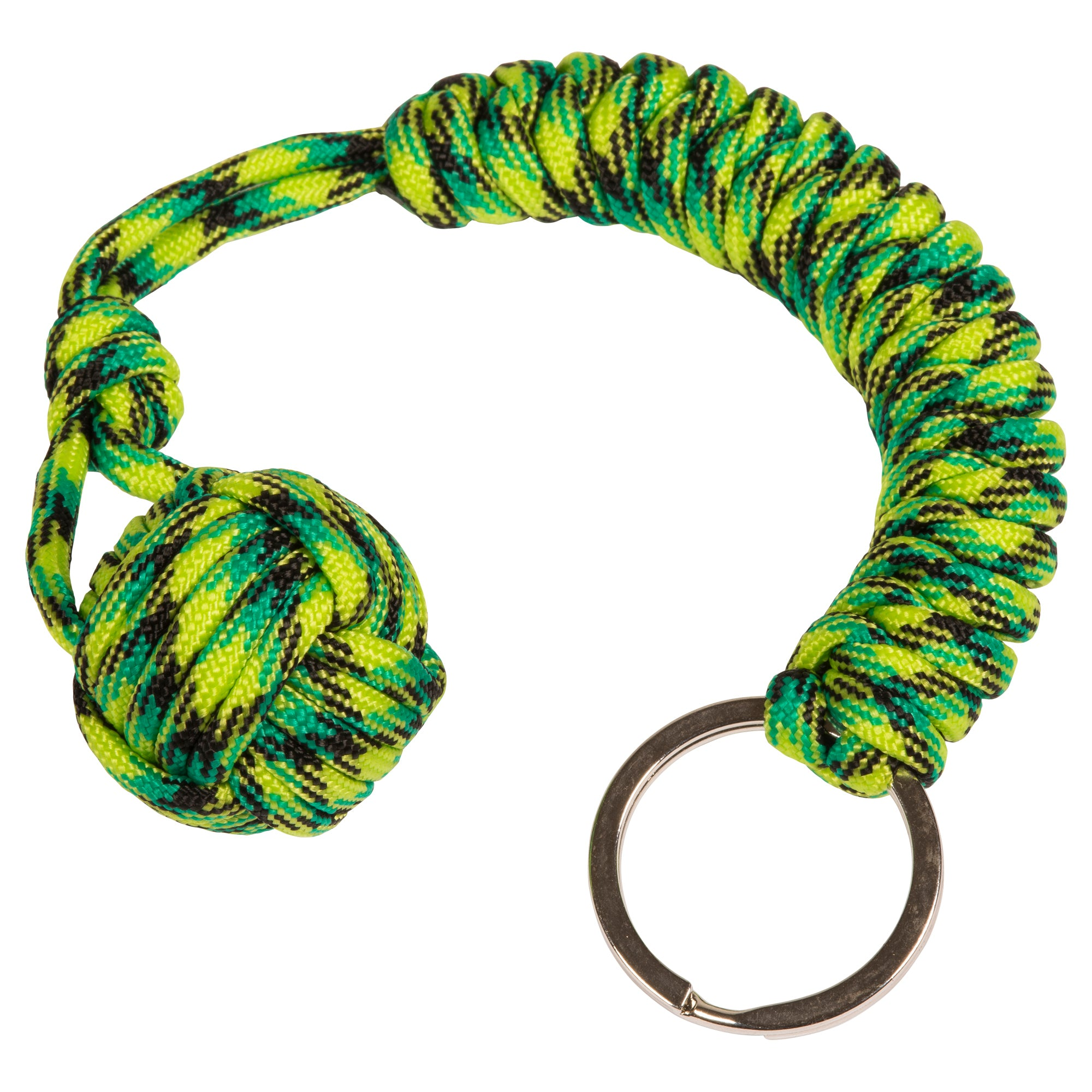 Green Lizard Monkey Fist Paracord Keychain 2e52fa1fae68
