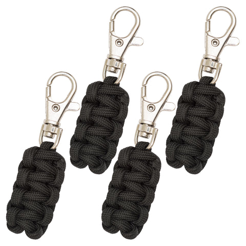 Paracord Zipper Pulls - 4 Pack Multi Colors Available