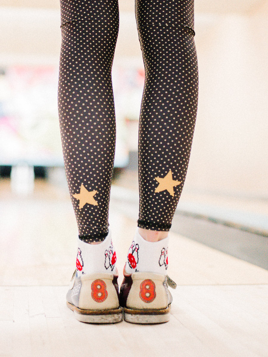 7d1bb5d9f2063 polka dot cowgirl black hot pant by teeki - womens yoga leggings ...