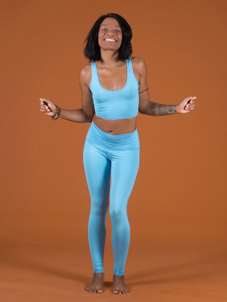 solid turquoise hot pant by teeki - womens yoga leggings ...