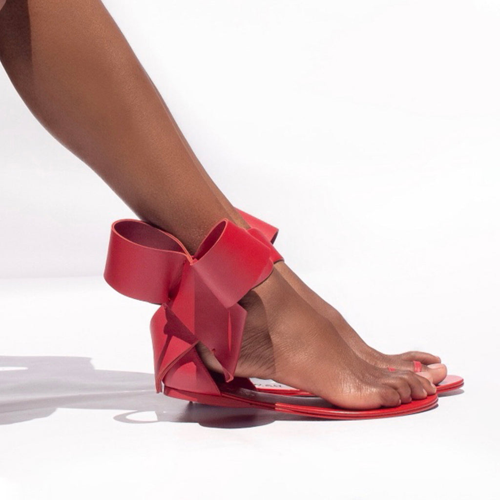 BOW SANDAL RED