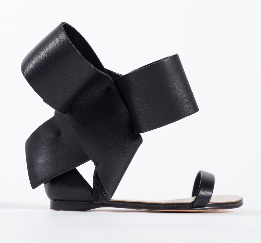 KIDS BOW SANDAL BLACK