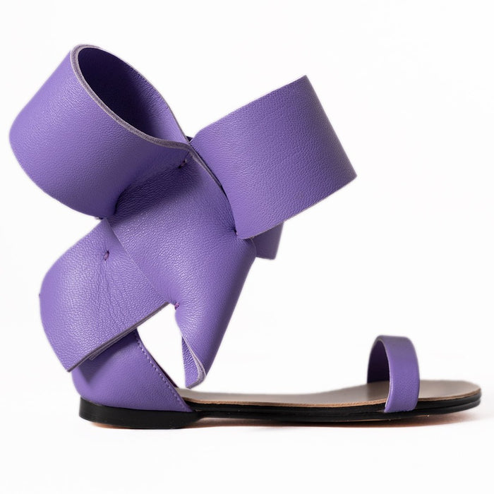 KIDS BOW SANDAL PURPLE