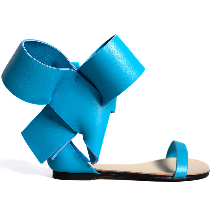 KIDS BOW SANDAL BLUE