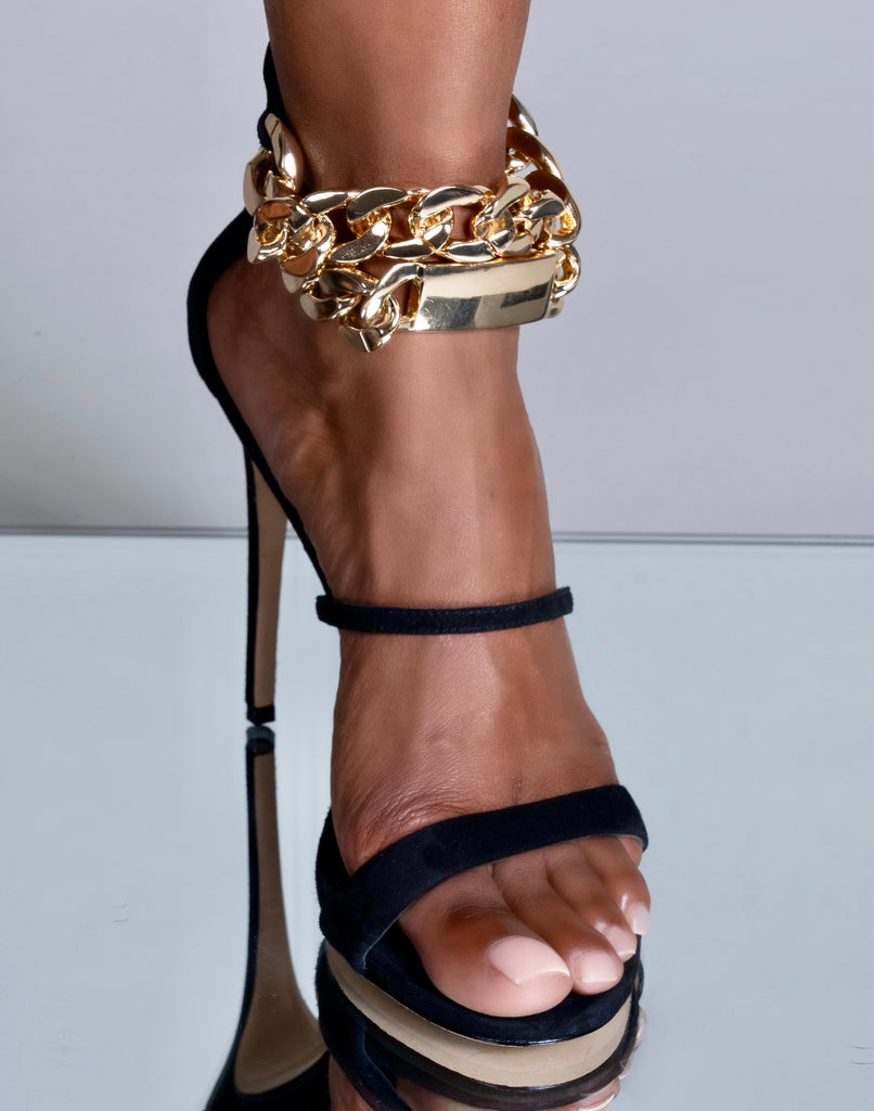 GOLD CHAIN OPEN TOE SANDAL