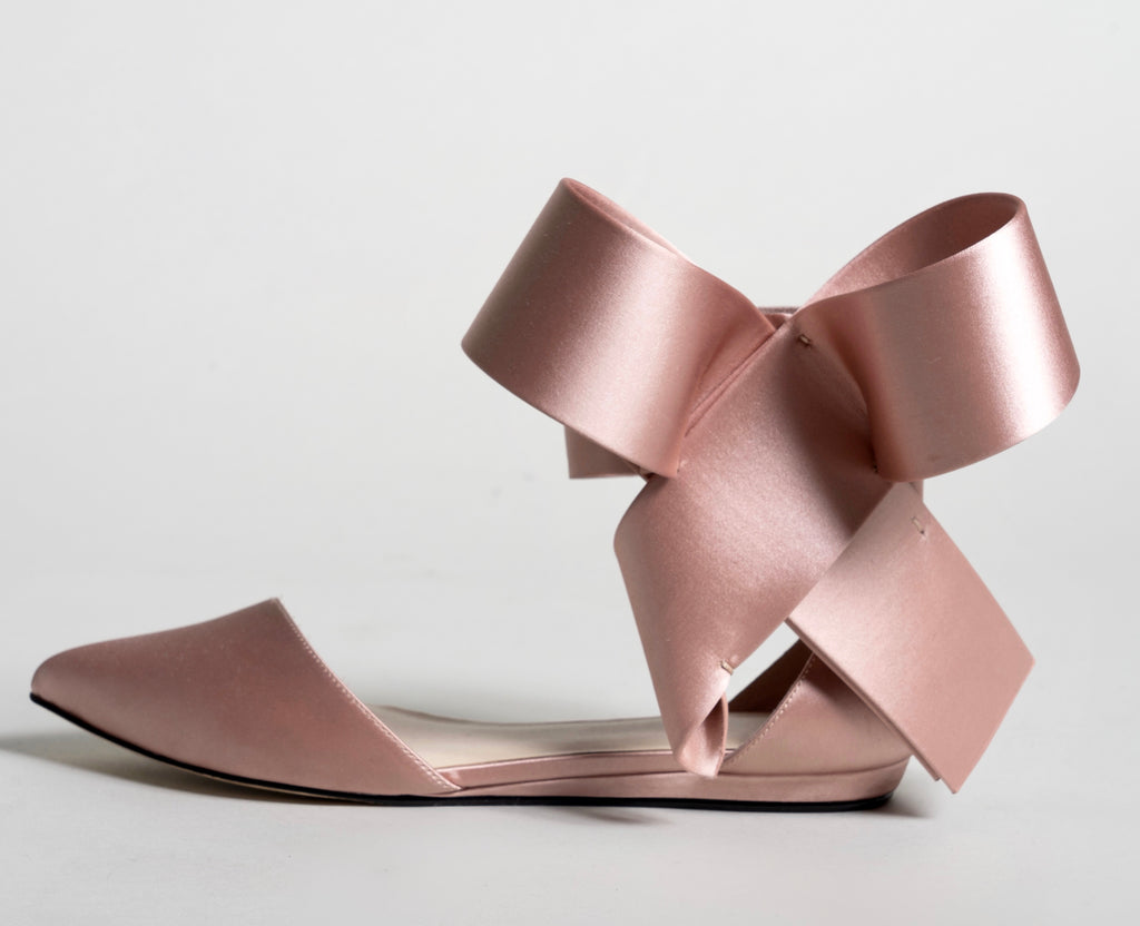 BOW FLAT CHAMPAGNE