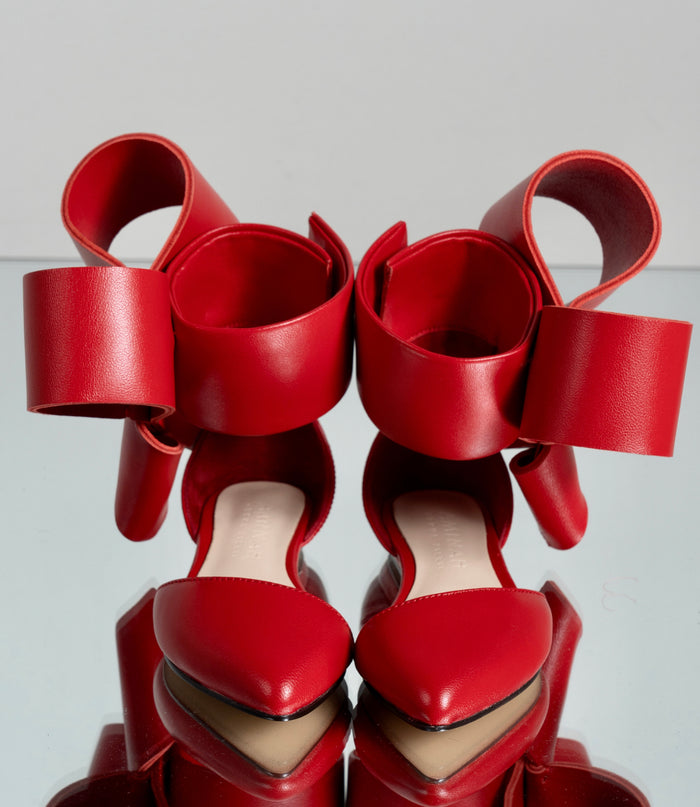 KIDS BOW FLAT RED