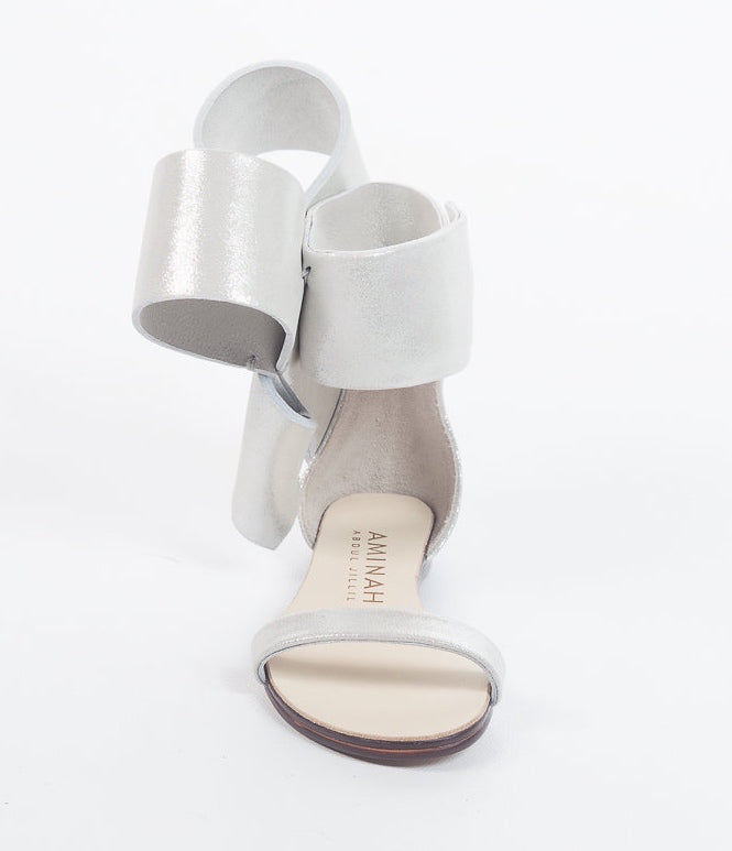 KIDS BOW SANDAL METALLIC SILVER