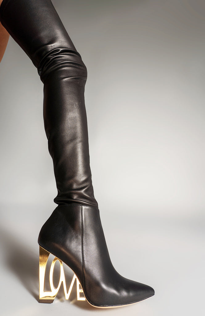 LOVE WEDGE THIGH BOOT