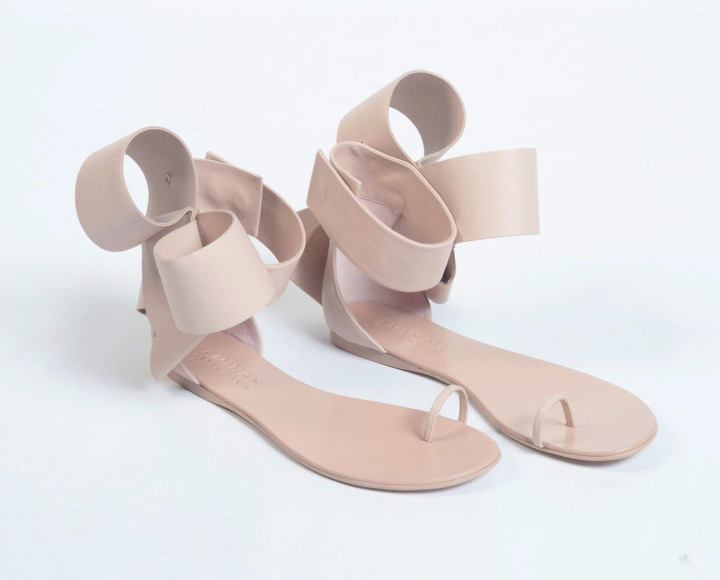 BOW SANDAL BLUSH NUDE